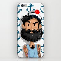 navy iPhone & iPod Skins featuring Navy by Mailys Brau