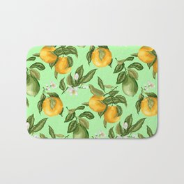 Citrus fruit tree blossom Bath Mat