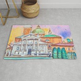 Venice. San Giorgio Maggiore. Andrea Palladio. Architecture. Watercolor Rug