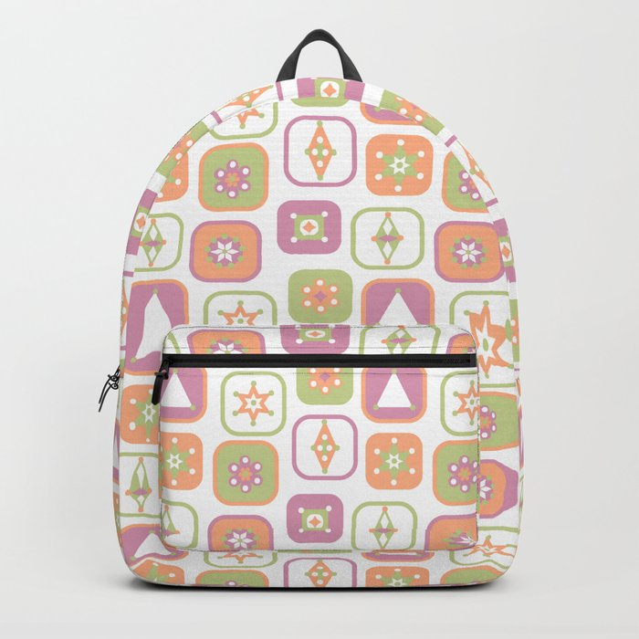 Abstract geometric pattern in pastel colors Backpack