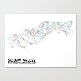 Squaw Valley, CA - Minimalist Trail Map Canvas Print