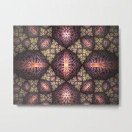 Fractal Art Pattern Metal Print