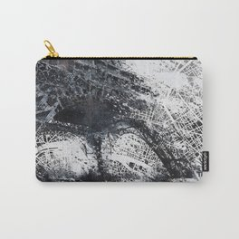 Eiffel tower painting  - Paris Map Carry-All Pouch