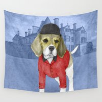 beagle Wall Tapestries featuring Beagle by Barruf
