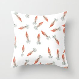 Feathers in Flight Throw Pillow