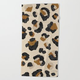 Leopard Print – Neutral Gold Light Palette Beach Towel
