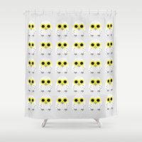hedwig Shower Curtains featuring Hedwig by Jessie Upward