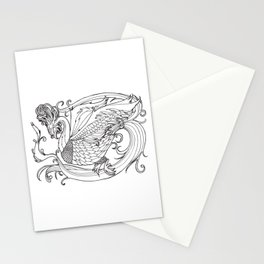 Simurgh from the Bestiary Coloring Book Stationery Cards