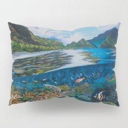Tropical seascape and wildlife Pillow Sham