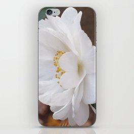 White Camellias Rampant iPhone Skin