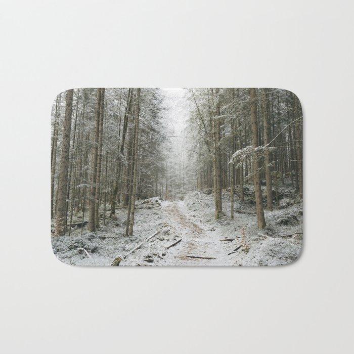 For now I am Winter - Landscape photography Bath Mat