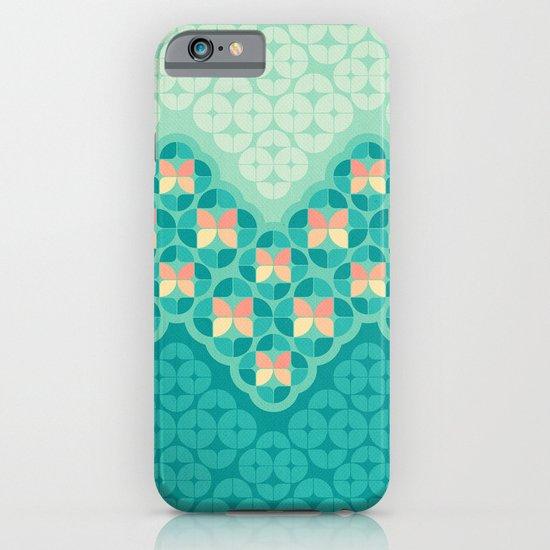 Blue Garden Pattern iPhone & iPod Case