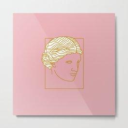 Aphrodite Face Metal Print