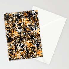 Aztec Pattern Orange Stationery Cards