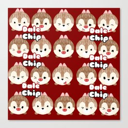 Chip And Dale Pattern Canvas Print