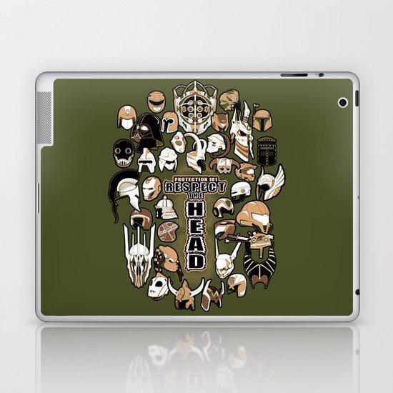 Helmets of fandom - respect the head! Laptop & iPad Skin