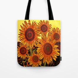 sunflowers family Tote Bag