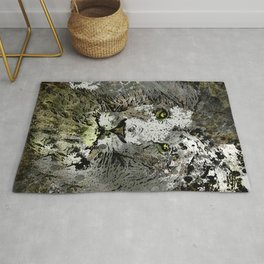 LION KING OF BEASTS ABSTRACT PORTRAIT Rug