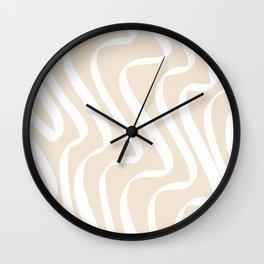 Line-Art Ribbon 1. White Wall Clock