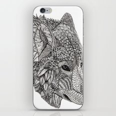 Tribal Wolf iPhone Skin
