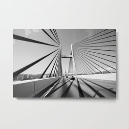 HongKong Bridge Metal Print