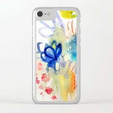 Fleurs Quilt Clear iPhone Case