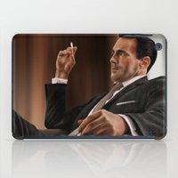 mad men iPad Cases featuring Don Draper (Mad Men) by San Fernandez