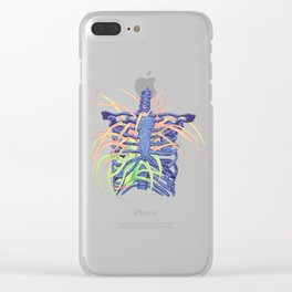 Rib Cage Hanging Plant Clear iPhone Case