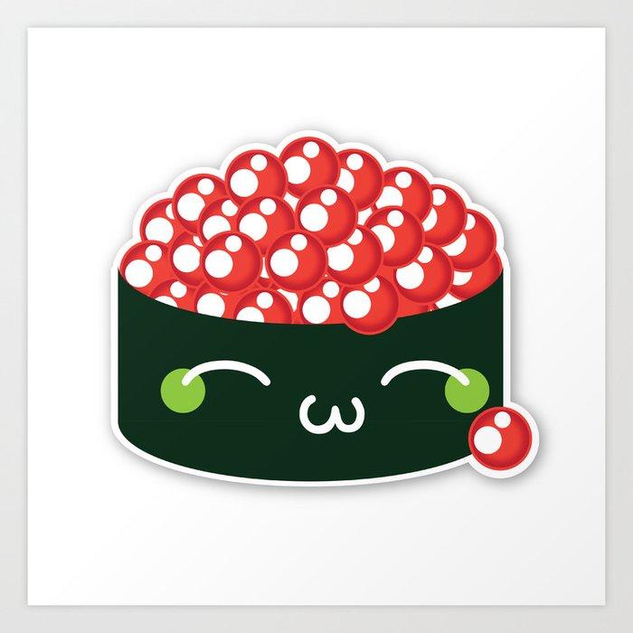 Happy Sushi Art Print