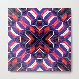 Curitiba (Garnet Stripes) Metal Print