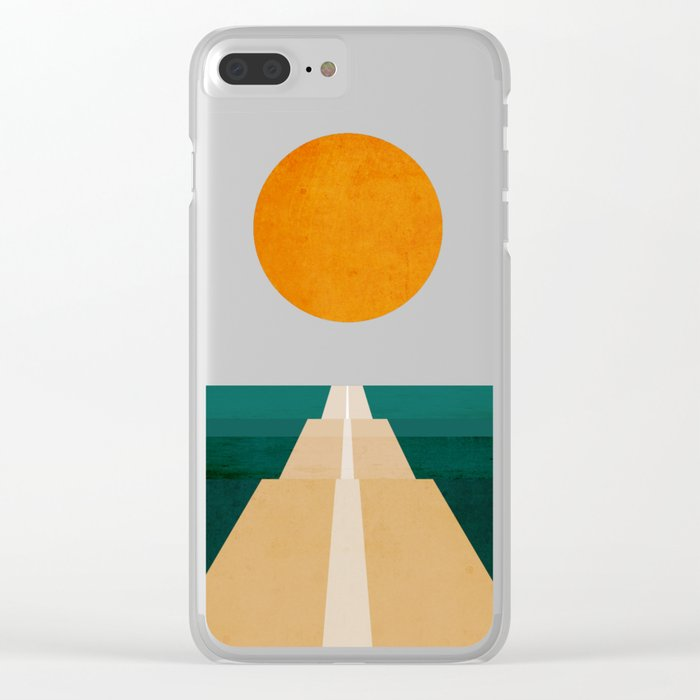 The Road Less Traveled Clear iPhone Case