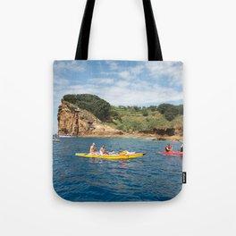 Kayaking in Azores Tote Bag