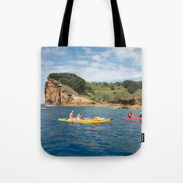 Kayaking in Azores Tote Bag
