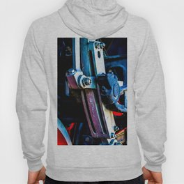 Vintage Driving Mechanical Gear Of A Steam Engine Locomotive Hoody