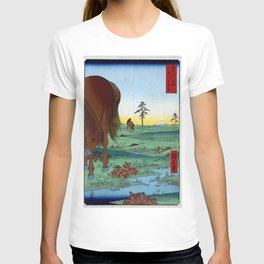 Hiroshige - 36 Views of Mount Fuji (1858) - 33: Kogane Plain in Shimōsa Province T-shirt