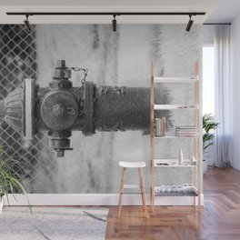 Eddy Valve Company Two Piece Barrel Fire Hydrant Waterford NY Fire Plug Wall Mural