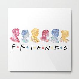friends watercolor Metal Print