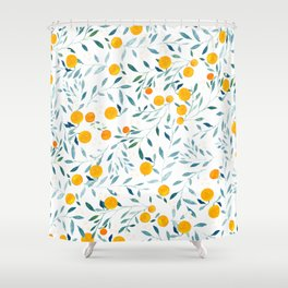 Orange Tree Shower Curtain