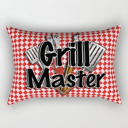 Grill Master with BBQ Tools Rectangular Pillow