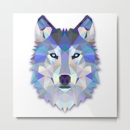 Colorful Wolf Metal Print