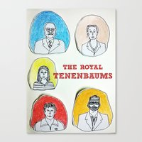 royal tenenbaums Canvas Prints featuring The Royal Tenenbaums  by Neethi Goldhawk