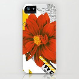 red flower collage iPhone Case