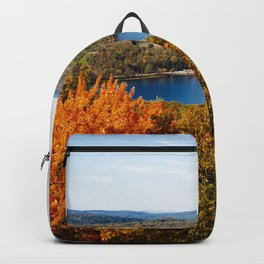 Fall afternoon. Backpack
