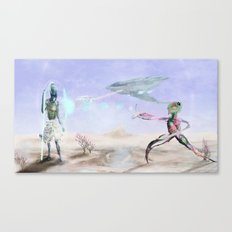 The Company Attacks  Canvas Print
