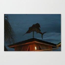 Beach Town Weather Vane Canvas Print