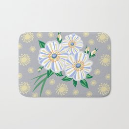 Abstract flowers with background Bath Mat