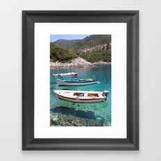Three Fishing Boats Framed Art Print