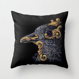 Ornamental Bird Throw Pillow