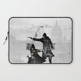 Jacob and Evie Frye Double Exposure Laptop Sleeve