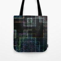 tetris Tote Bags featuring Tetris by Audrey Erickson